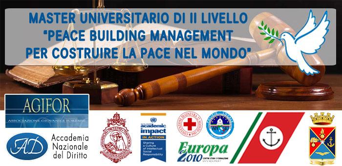 Master Universitario di II Livello in Peace Bulilding Management – per Costruire la Pace nel Mondo