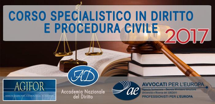 Corso Specialistico in Diritto e Procedura Civile 2017